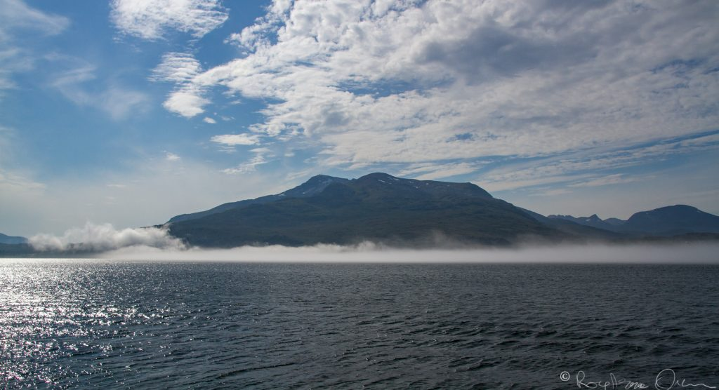 The coastal fog around Tjeldsund.