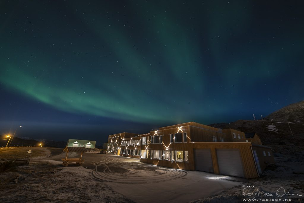 Northern light at low level solar activity